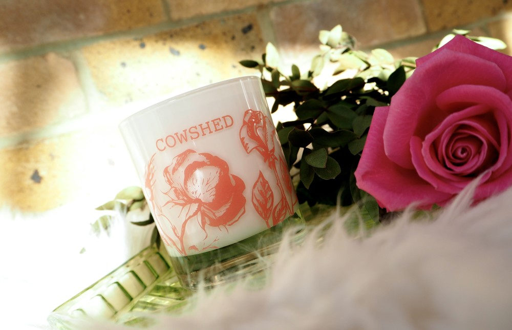 cowshed simply gorgeous candle pink