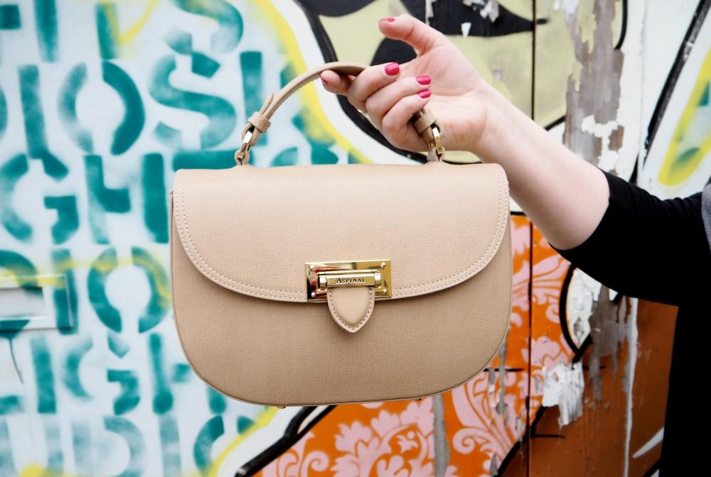 aspinal of london handbag saddle bag deer