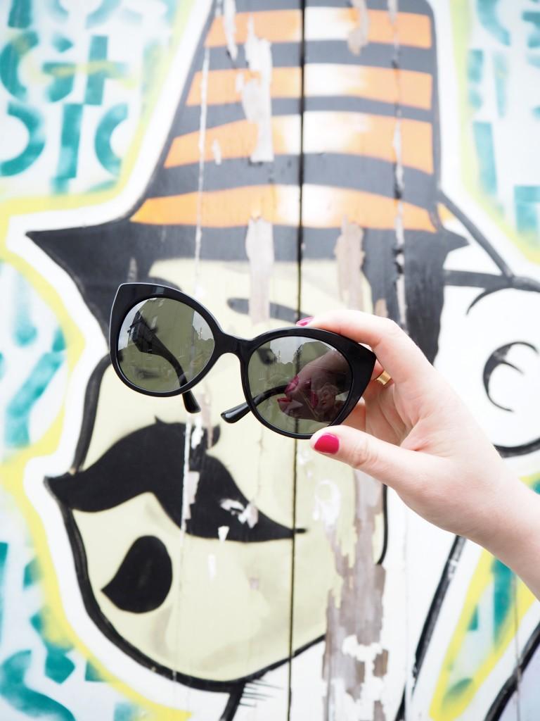 miu miu sunglasses black crystal arms street art margate