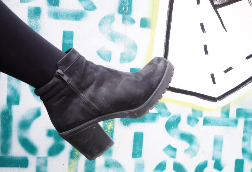 vagabond boots black nubuck leather suede grace zip up