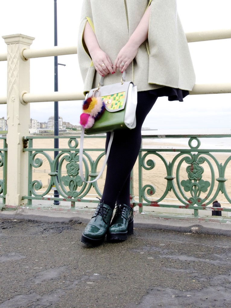 lidia may handbag green and yellow