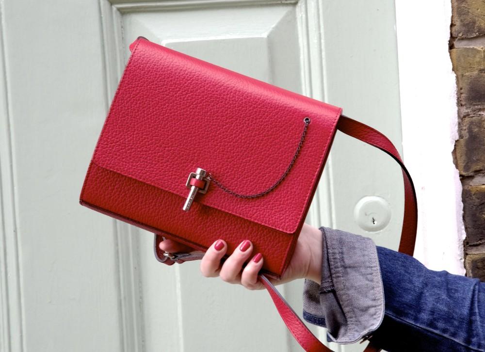 OOTD: Red Carven Handbag