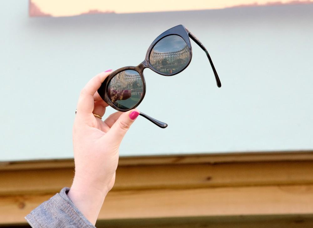 miu miu sunglasses black cat eye frames crystal arms