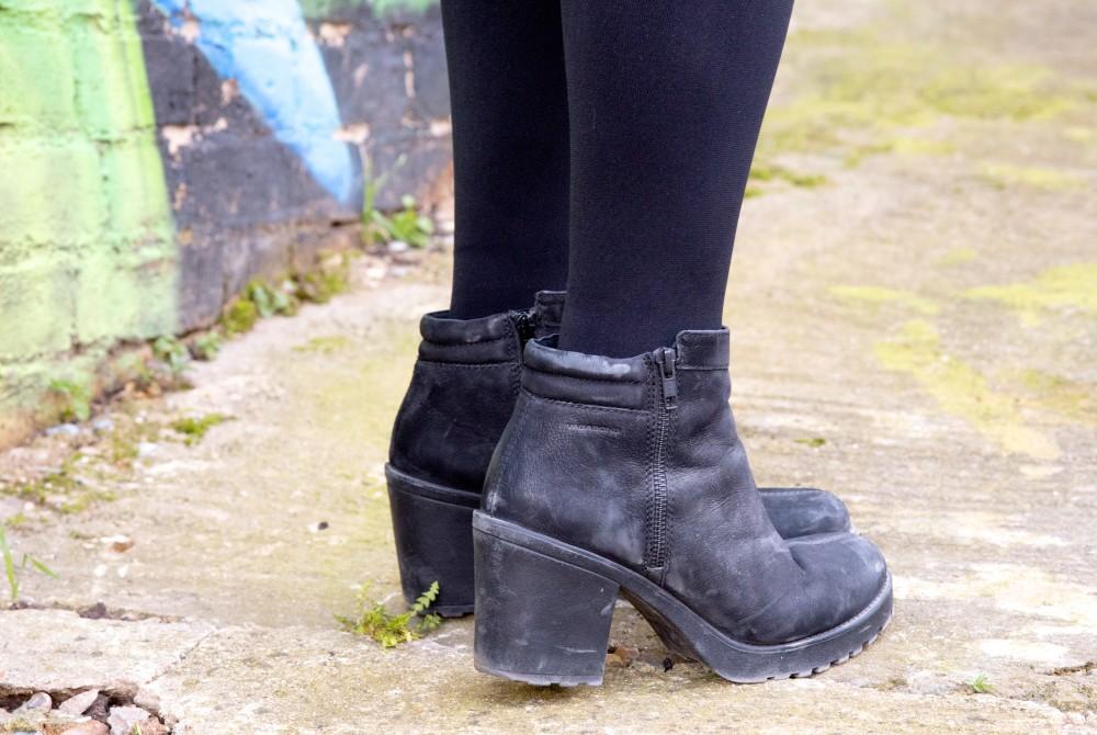 vagabond boots black nubuck leather