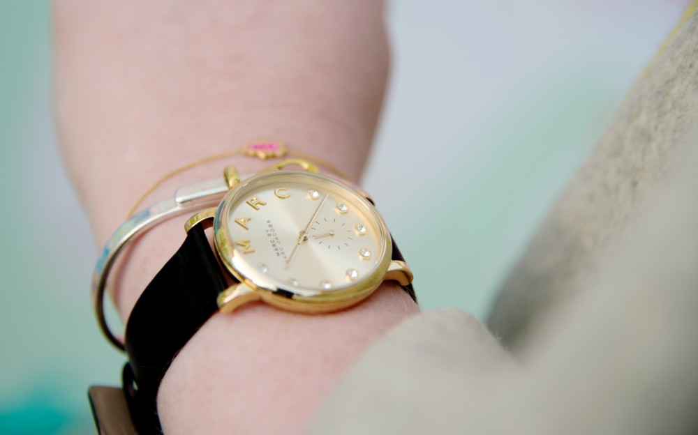 marc by marc jacobs watch black crystals