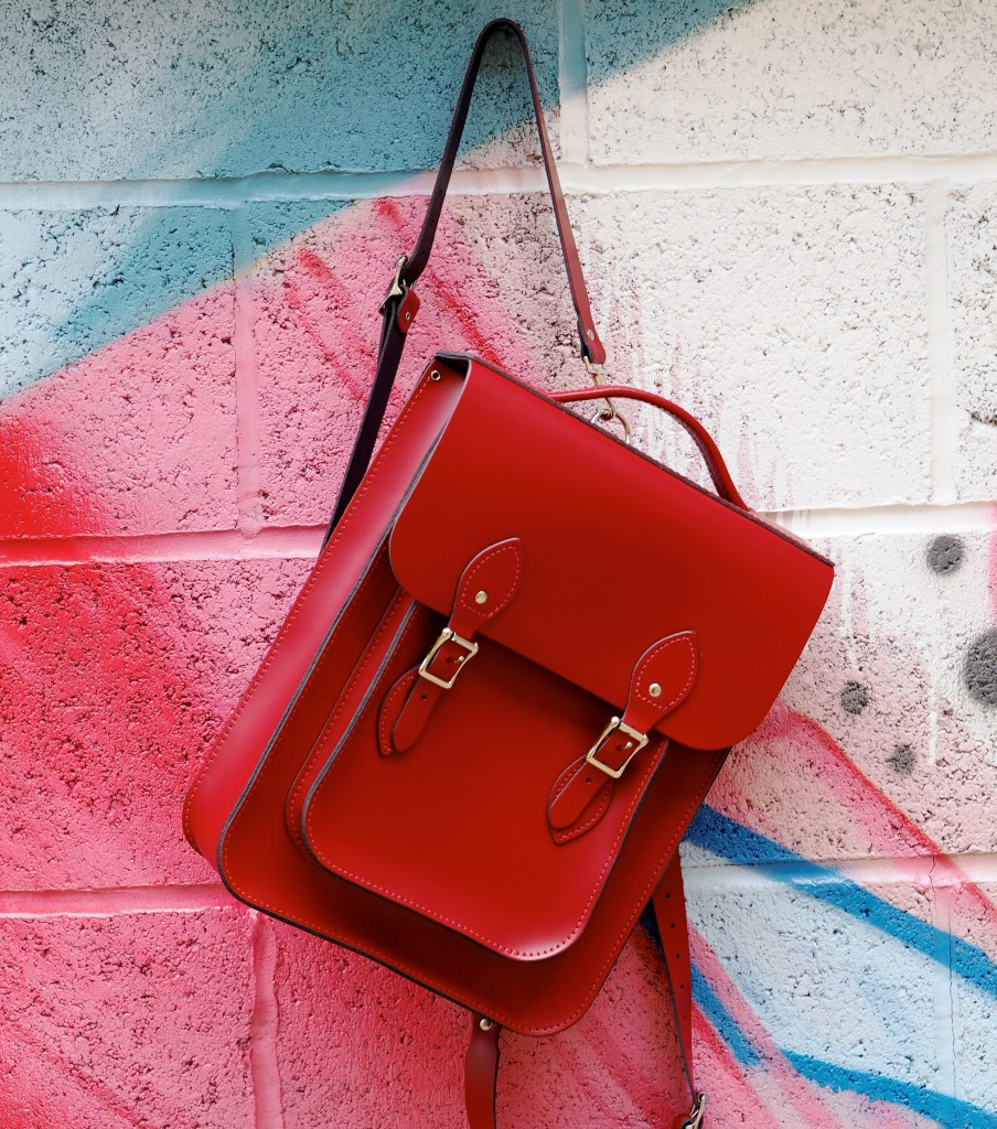 The Leather Satchel Co Company Handbag Backpacks Red And Blue