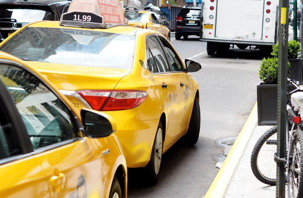 new york yellow taxi cabs yellow midtown soho