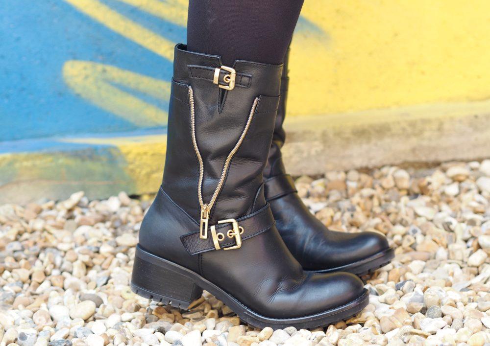 daniel footwear biker boots black