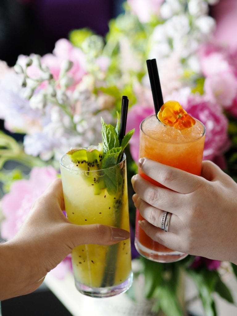 cocktails-flowers-kiwi-floral-drinks-long-ice-pretty-colourful-colorful-
