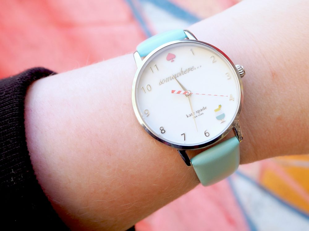 kate spade cocktail watch blue somewhere cocktails 5pm