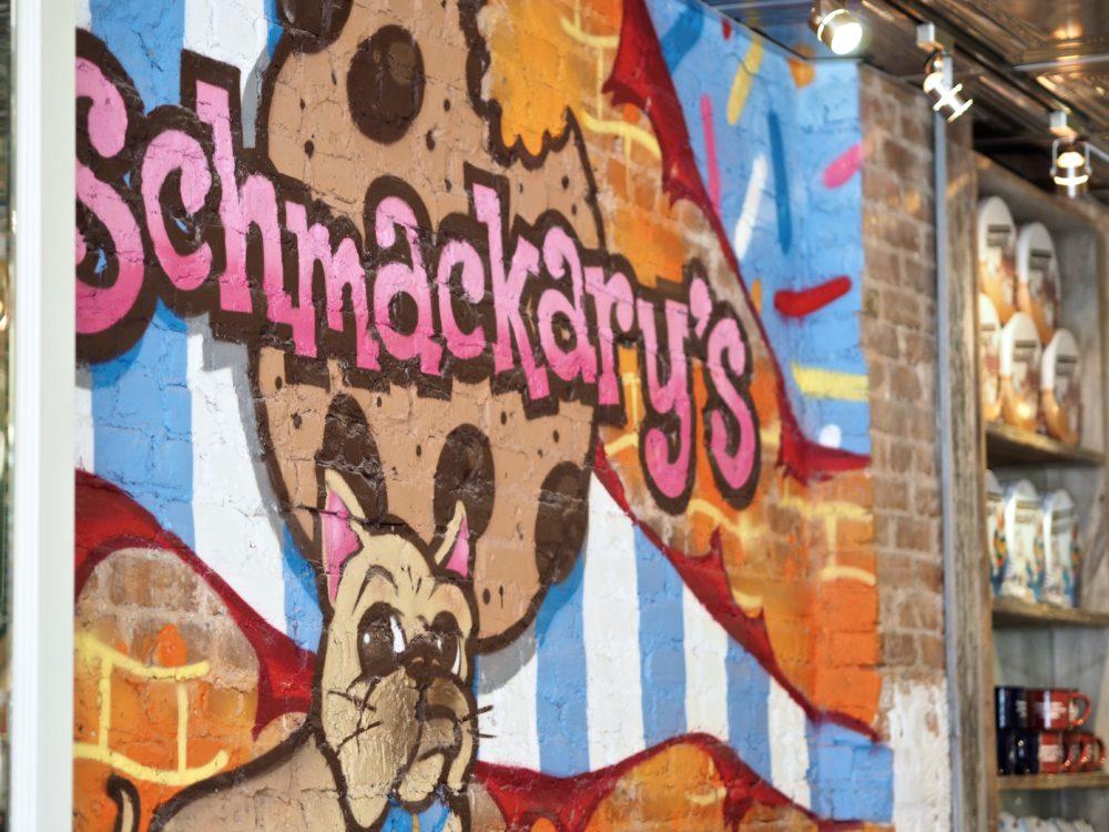 OLYMPUS DIGSchmackarys-wall-painted-logo-ITAL CAMERA