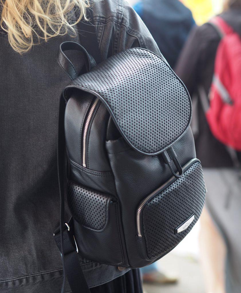 kipling-black-leather-backpack