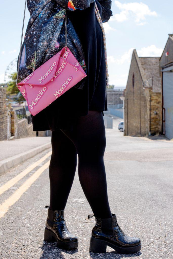 moschino barbie handbag pink shoulder bag