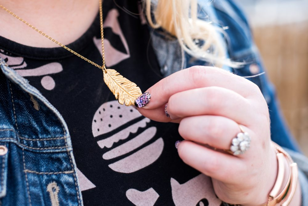 Essentia Collection Feather Necklace