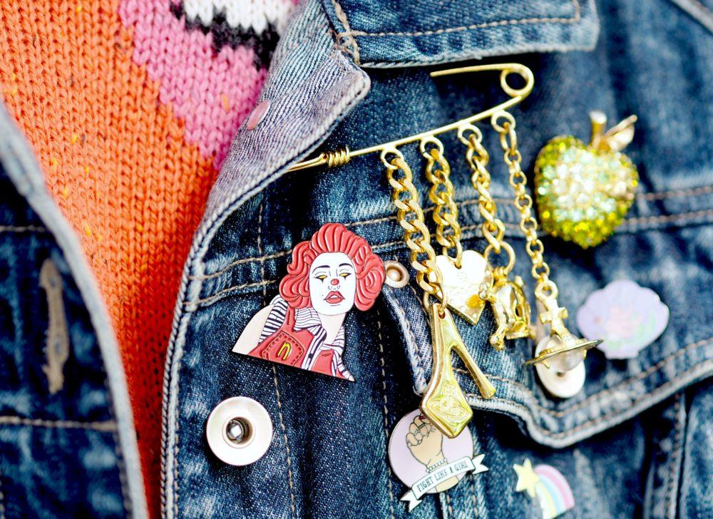 Robin Eisenberg x nadia lee cohen pin badge brooch