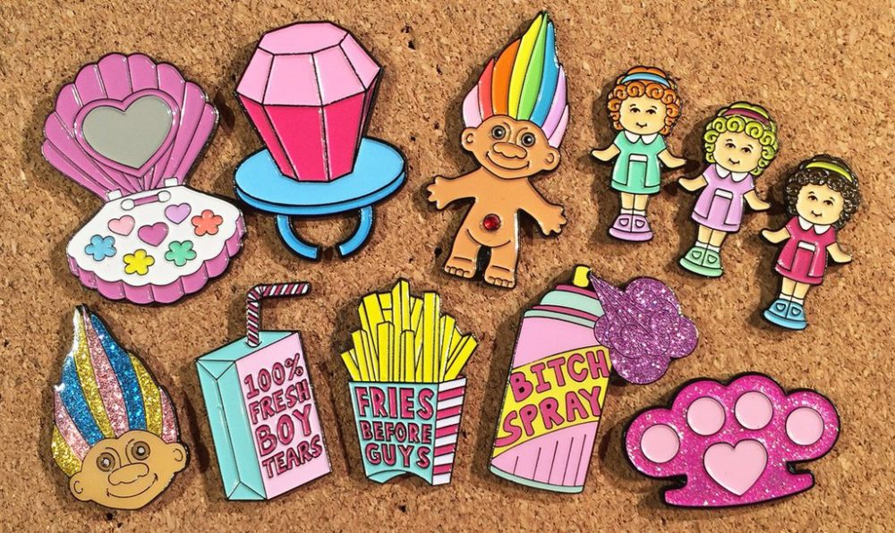 candy doll club pin badges