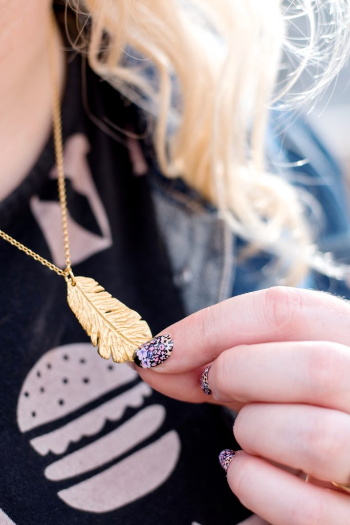 gold Essentia Collection Feather Necklace