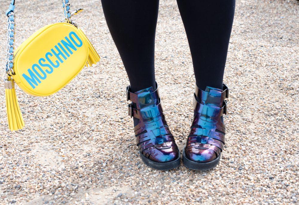 purple oil slick shoes ASOS Boots