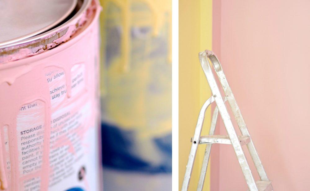 valspar paint tins pink