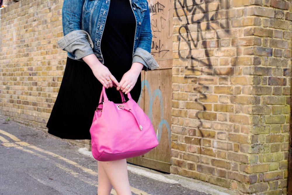 boden pink handbag tassle handbag