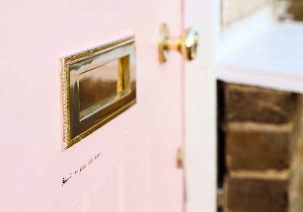 There's No Place Like Home door and letterbox