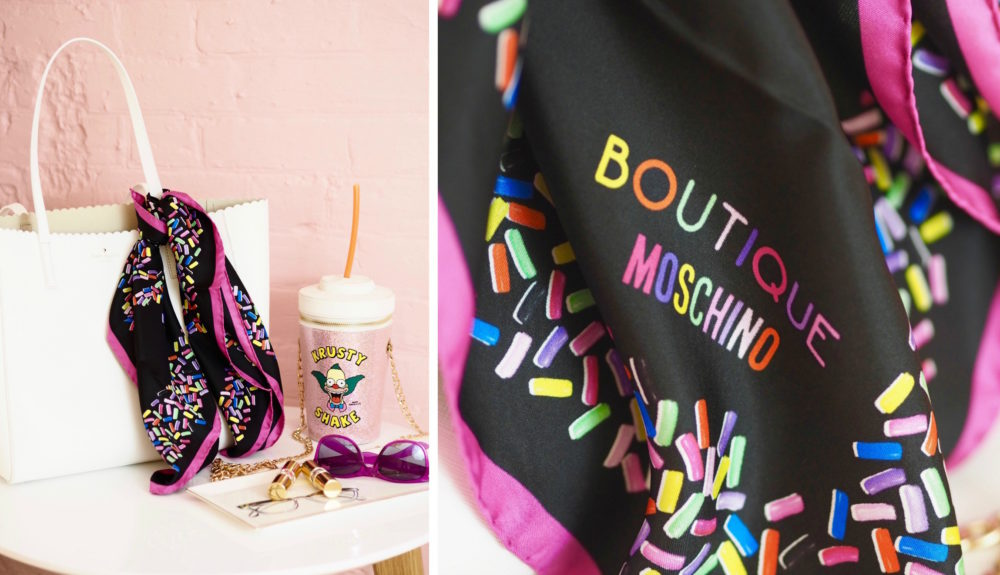 moschino boutique black sprinkles scarf
