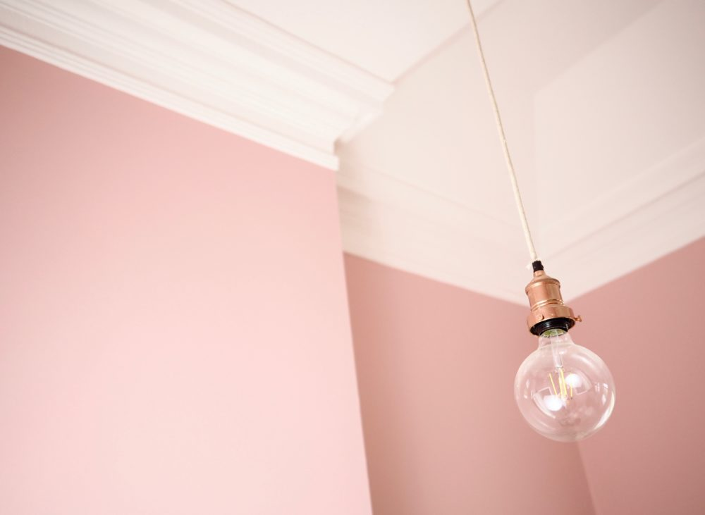 pink-office-paint-ceiling