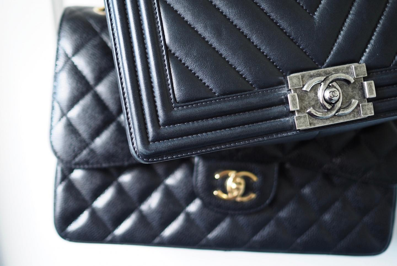 139ebee68c29 Chanel Handbags: Caviar Leather or Lambskin? - Fashion For Lunch.