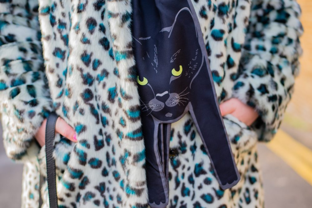 Cleo Ferin Mercury Black Cat Scarf the apprentice tv show scarves