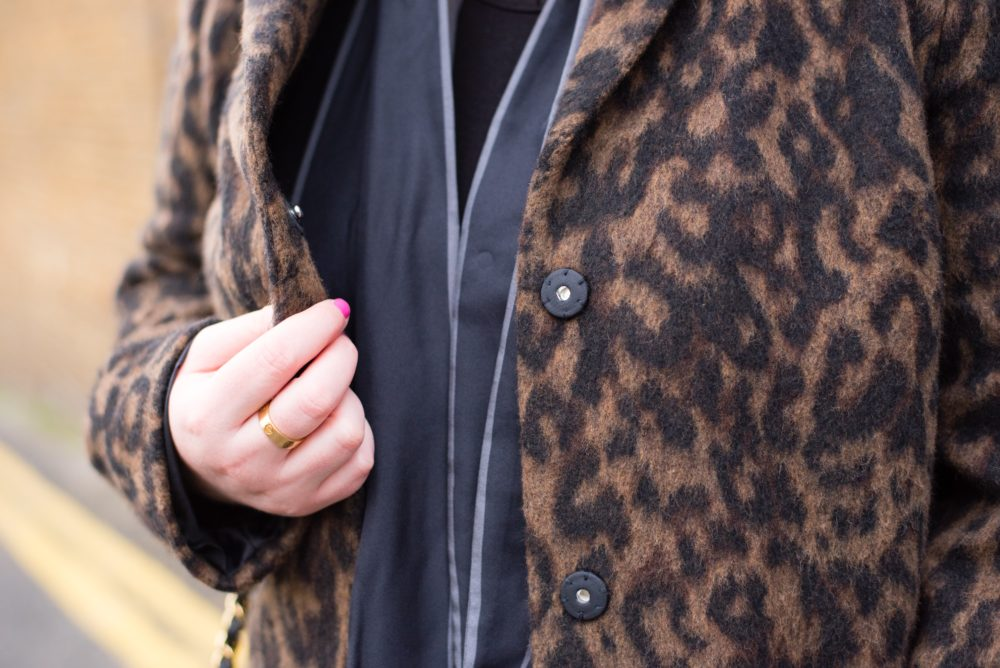 boden coat leapard print