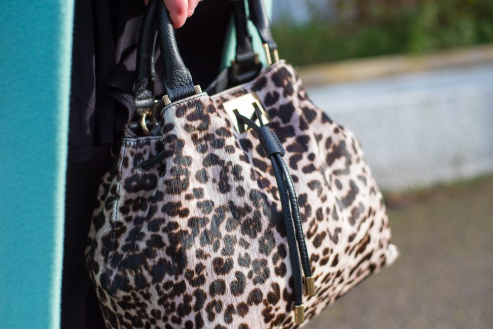 boden drawstring tote bag snow leopard