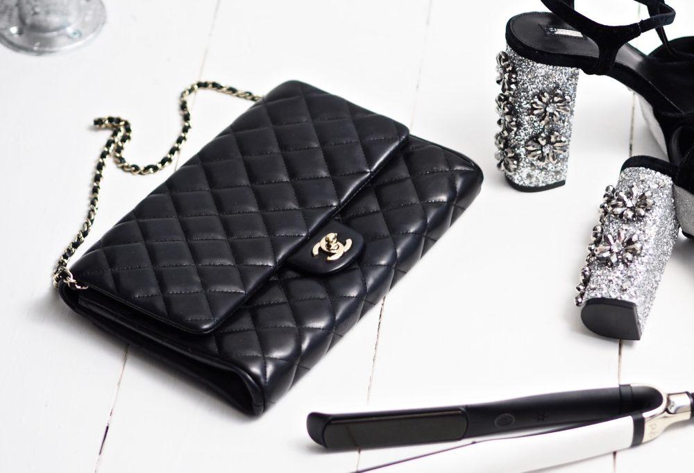 Chanel Handbag Clack Clutch Bag Flap Chain Gold