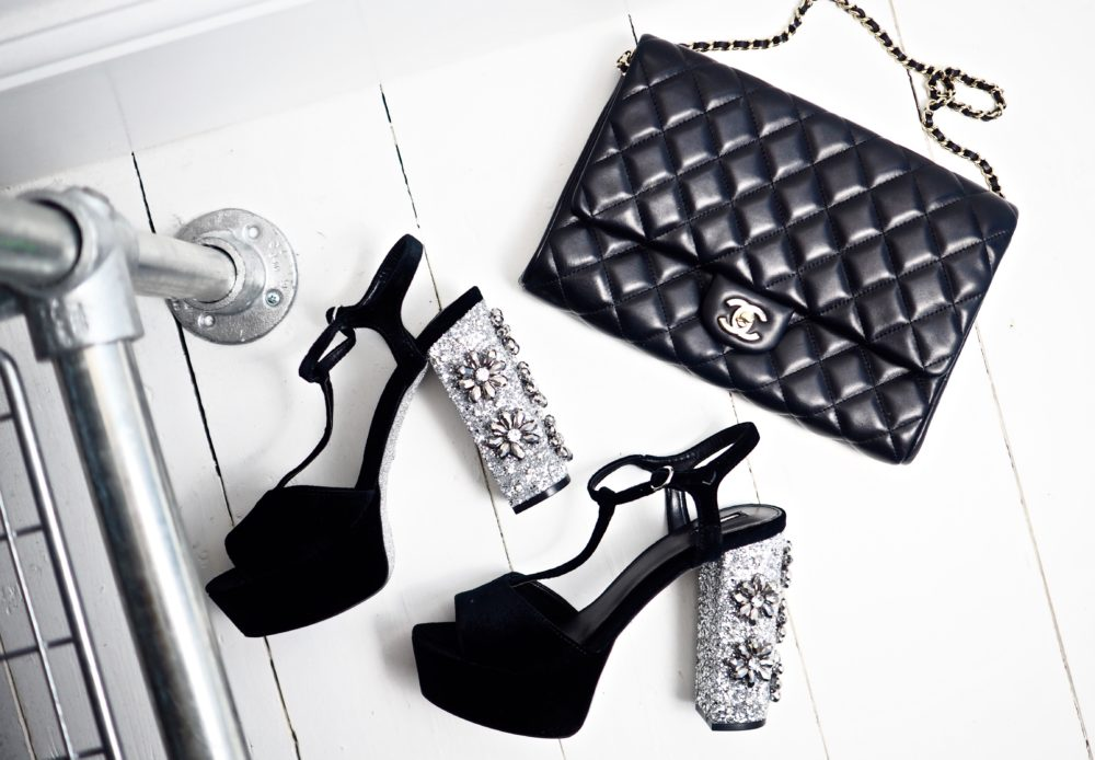 kurt geiger carvella party shoes silver crystal heels