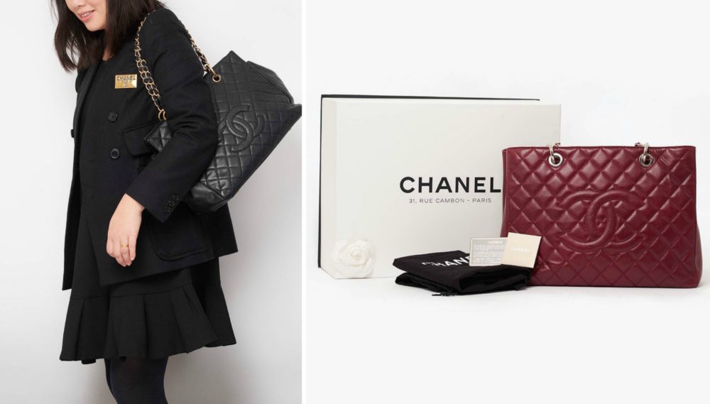 chanel gst tote bag