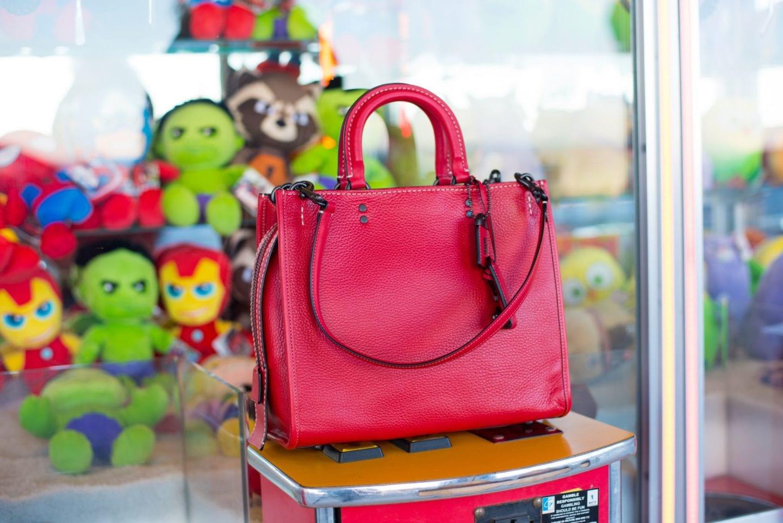 coach go rogue handbag red bag