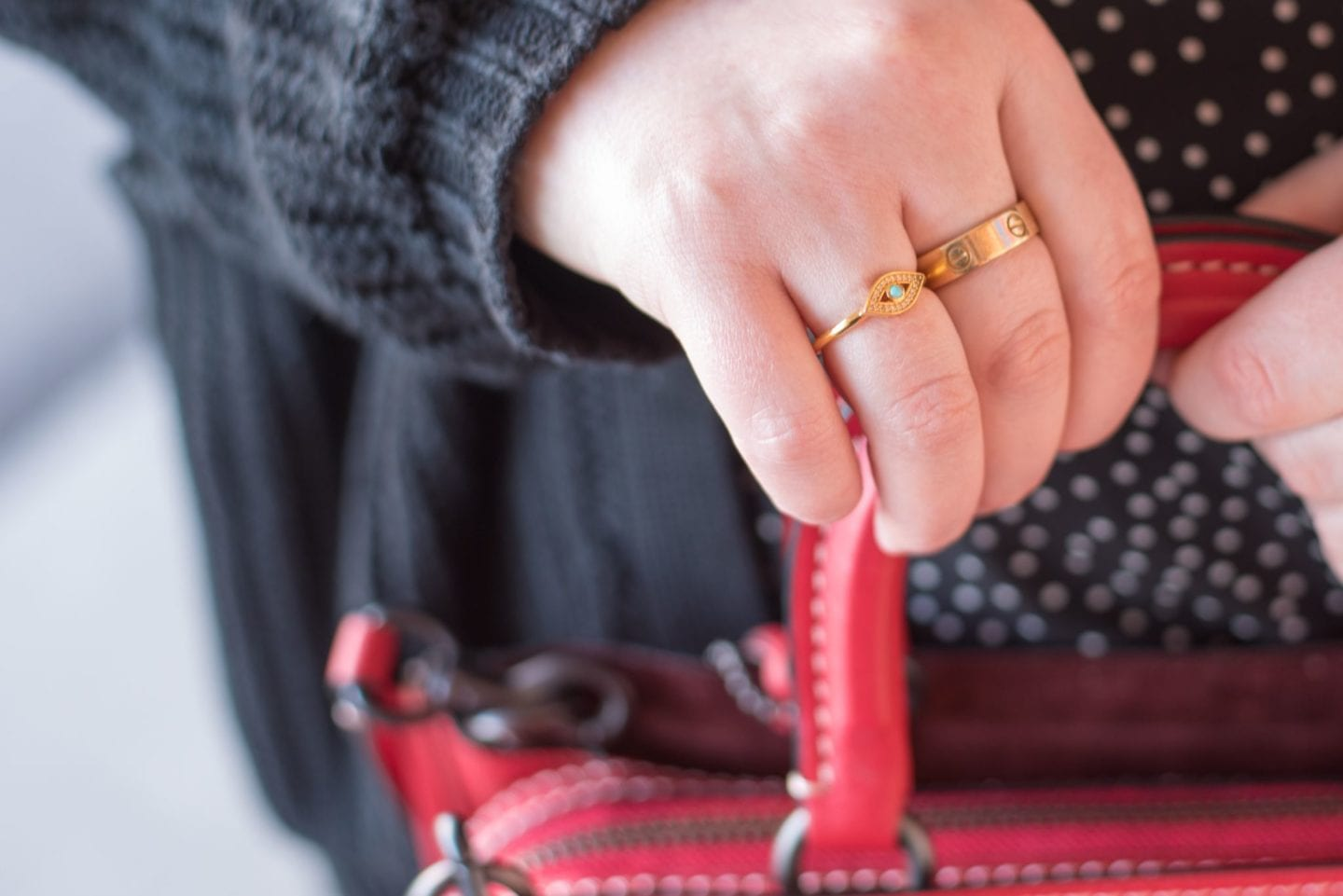 gold cartier love ring blogger