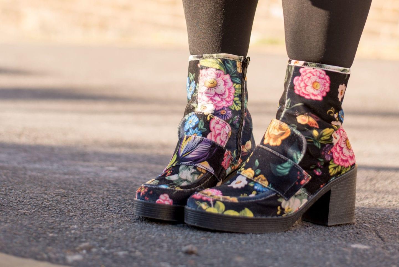 next boots floral velvet 1970s style