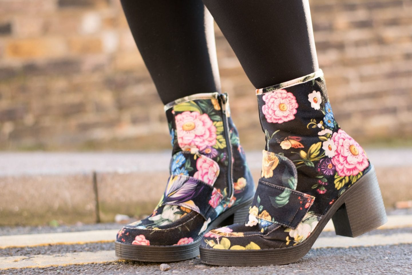 next floral boots shoes velvet