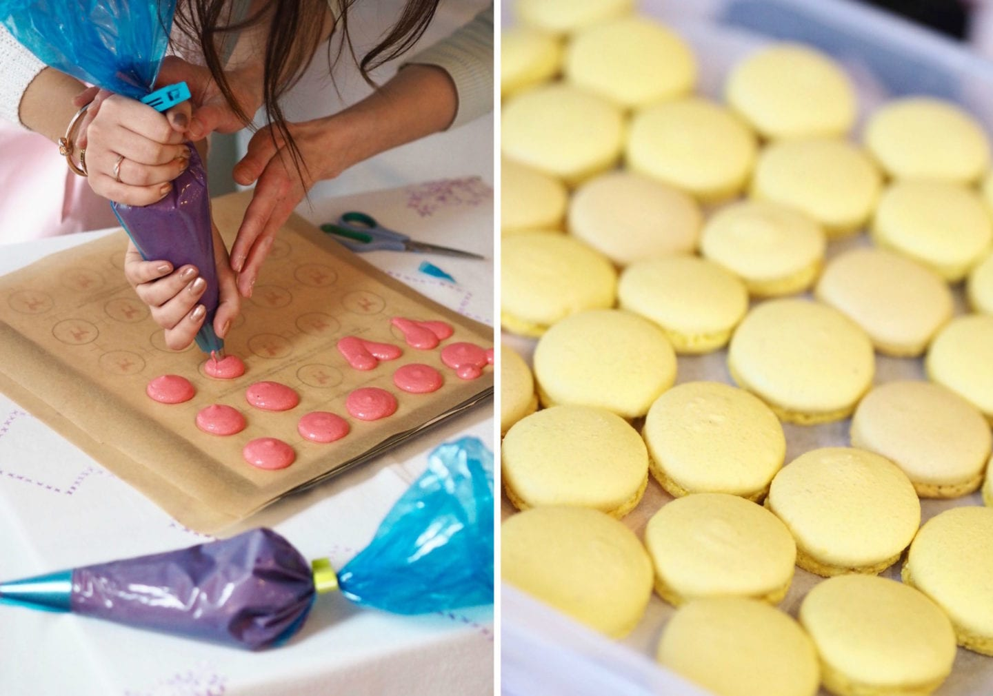 macaroon making with juicy couture