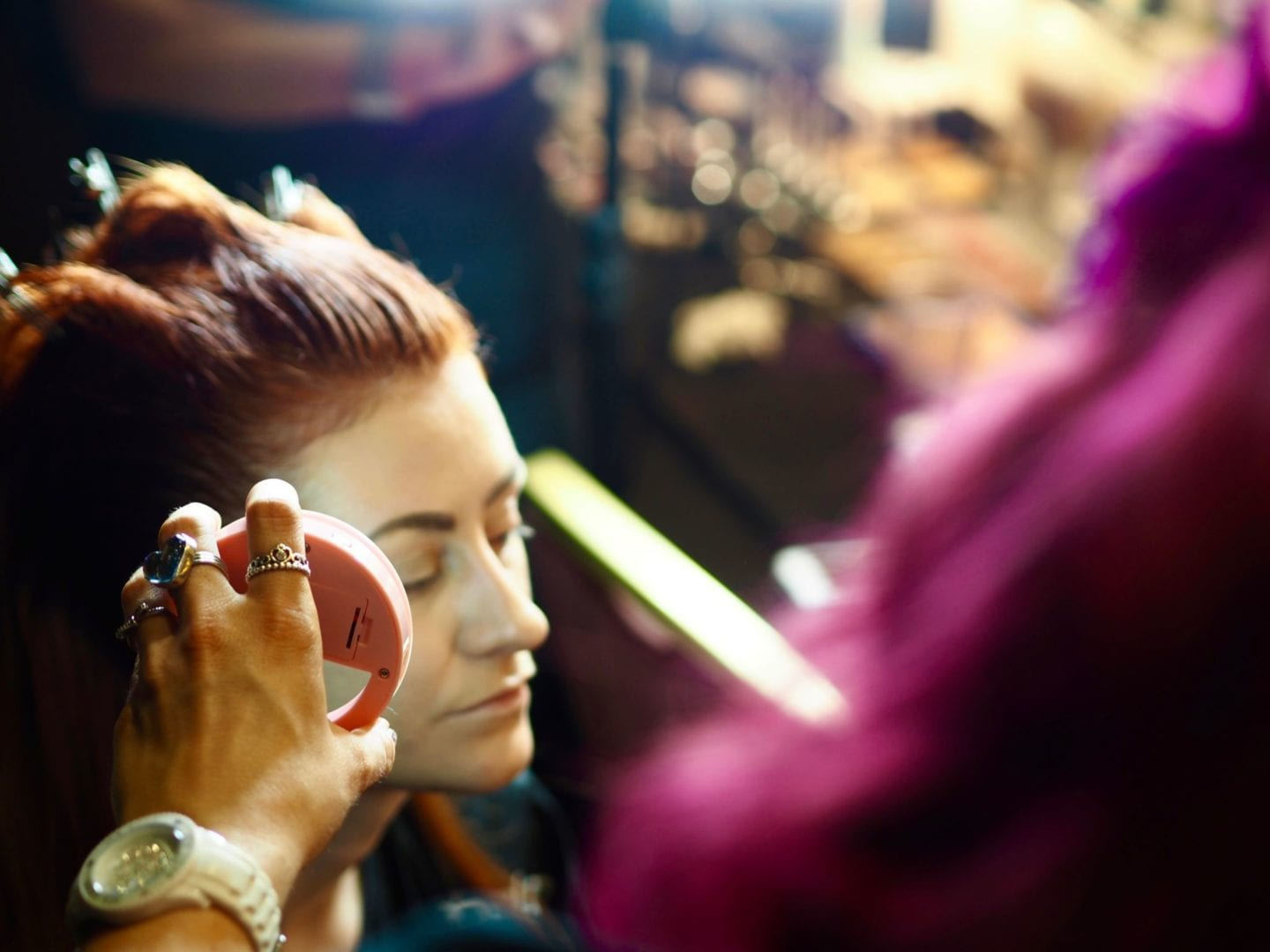 Backstage-at-LFW-With-Hellavagirl-X-Benefit-Cosmetics-lisa-benefit