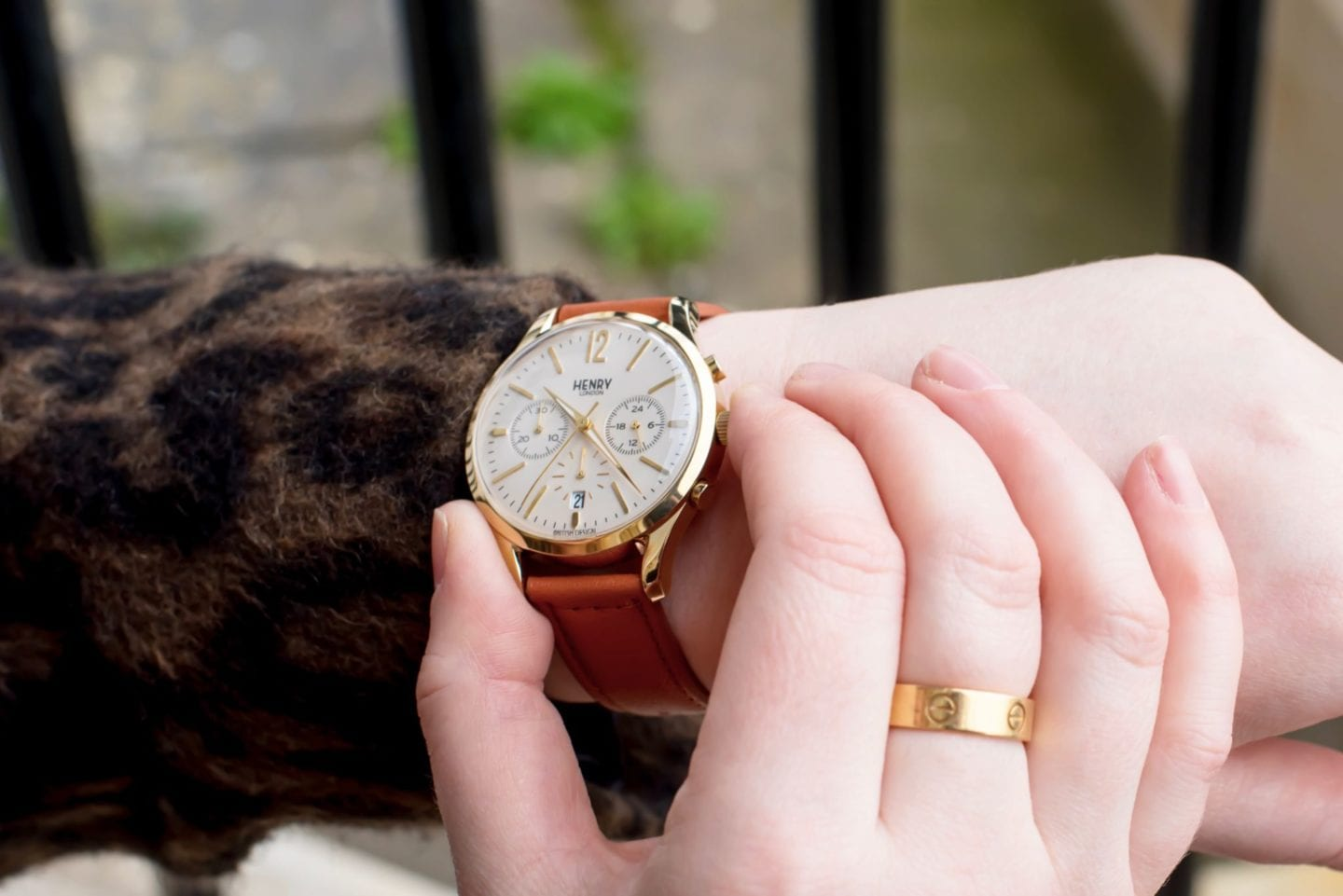Henry Watch london brown leather