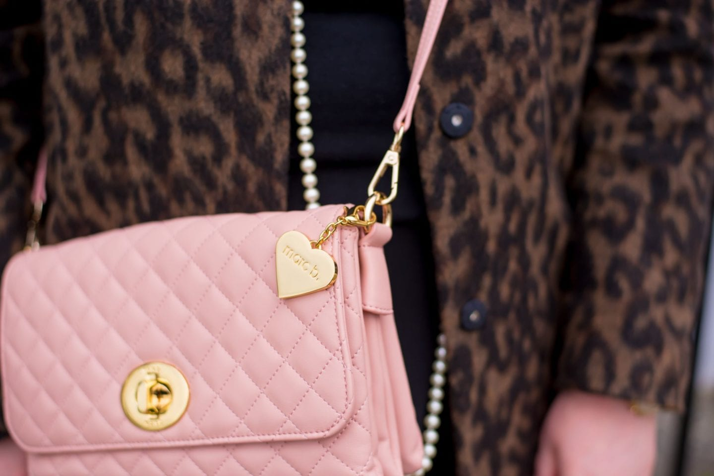Marc B Handbag pink quilted bag