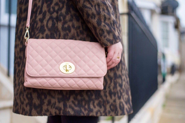 Marc B Handbag pink quilted penny yaz