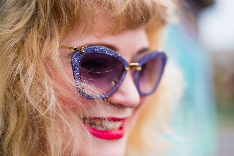 miu miu sunglasses purple glitter