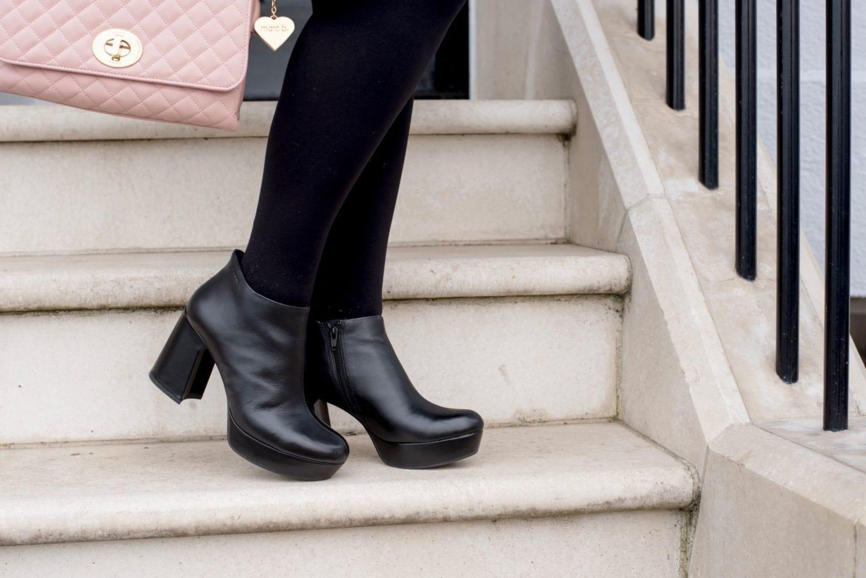 vagabond leather black platform boots
