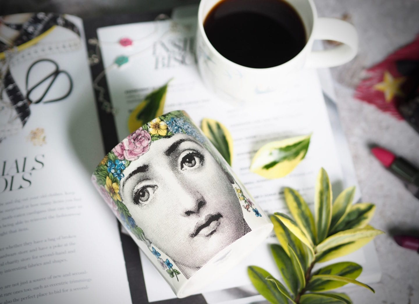 Fornasetti-Flora candle