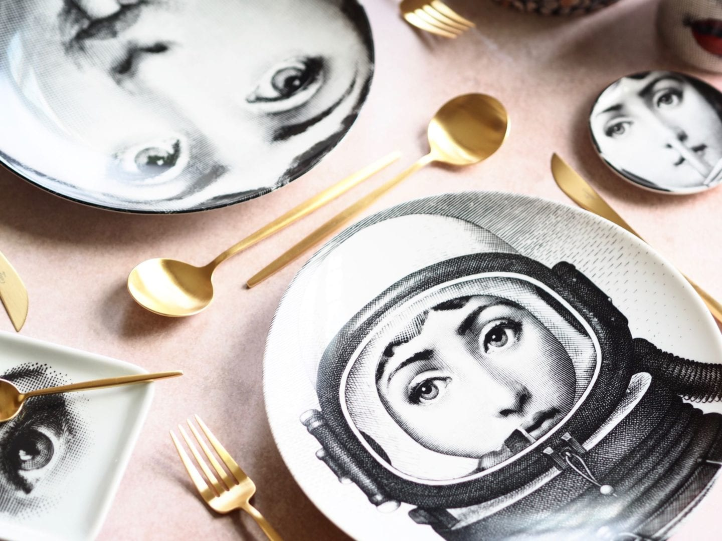 My Fornasetti Collection: Face Plates and Floral Candles