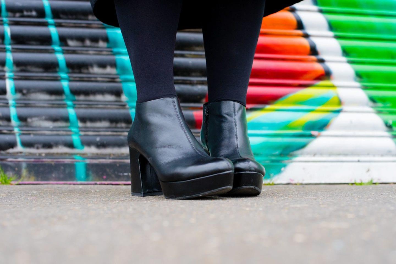 vagabond shoes boots black leather platforms