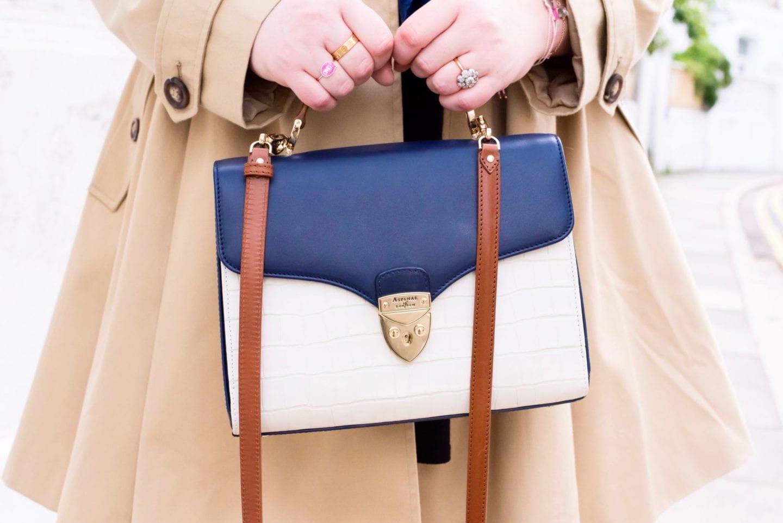 aspinal of london mayfair handbag worn top handle