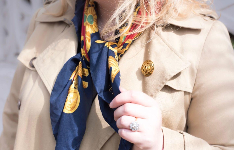 celine vintage silk scarf